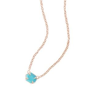 Kendra Scott Mabel Necklace in Rose Gold Turquoise